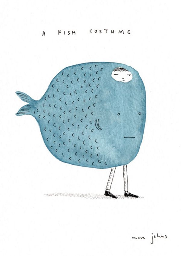 A fish costume by Marc Johns