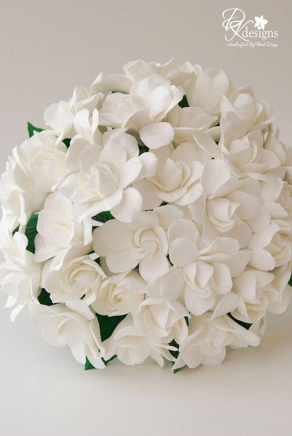 Couture Clay - Gardenia Wedding Bouquet