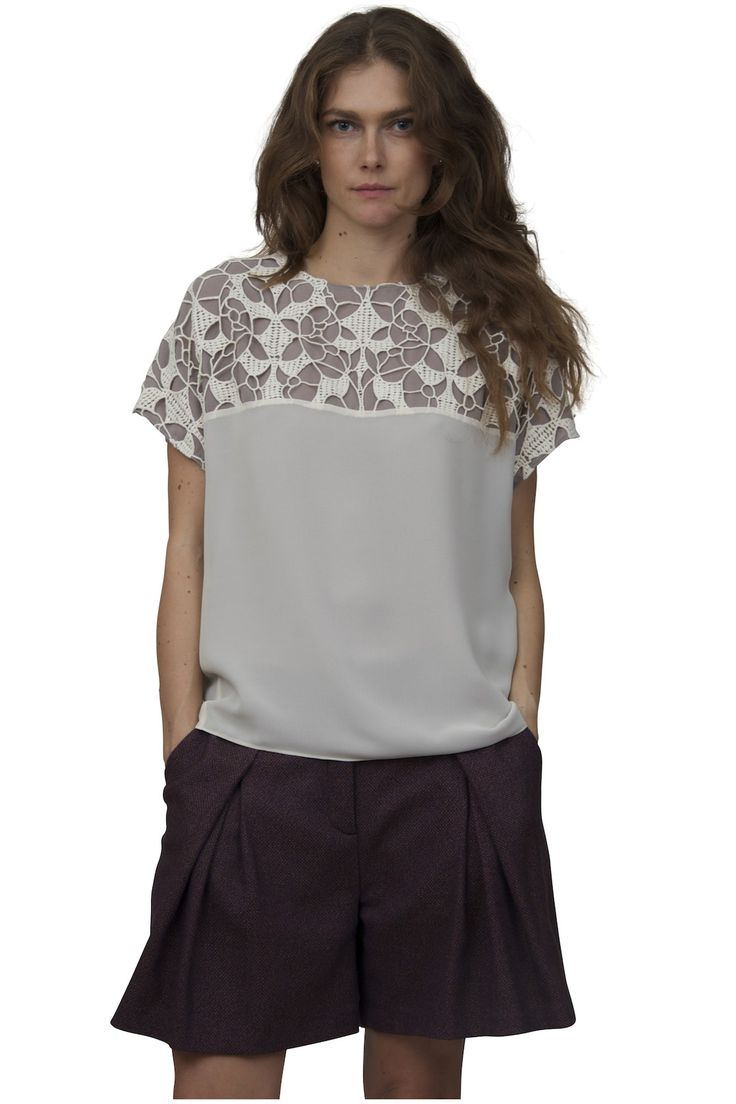 See by Chloe'-Inlay lace blouse