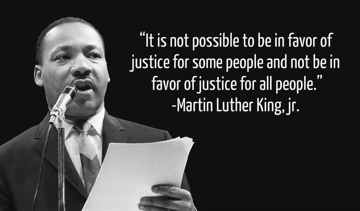Mlk Quotes About Justice Martin Luther King quote on Justice for All Mlk Quotes About Justice