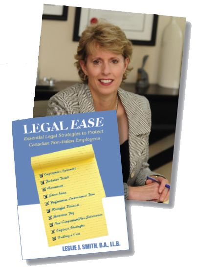Meet Leslie Smith.  Leslie is a Employment Lawyer from Toronto. Leslie has dedicated her life to serving the injustices common in today's work environment. Leslie has created a very easy to read & understand book about employment law and how to protect yourself over the course of your career.