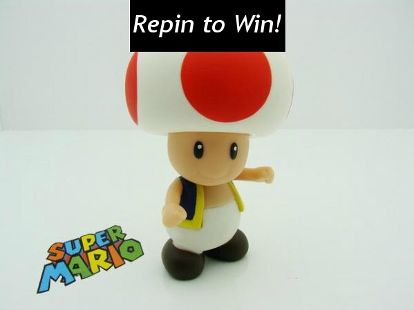 Repin and follow to win this Super Mario Toad Super Size Figure! U.S. only. Ends 12 p.m. ET Friday, April 13. #giveaway #MicroCenterPromos