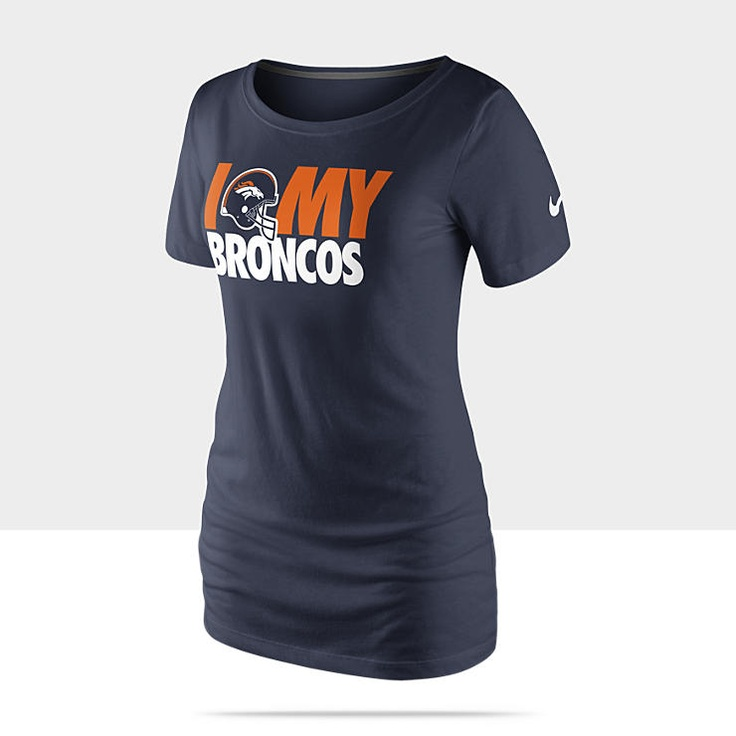 Nike Team Dedication Tri-Blend NFL Denver Broncos Women's T-Shirt - College Navy