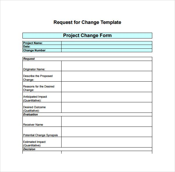 9 Change Log Template With Images Templates Change Request