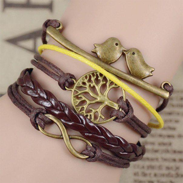многослойные браслеты