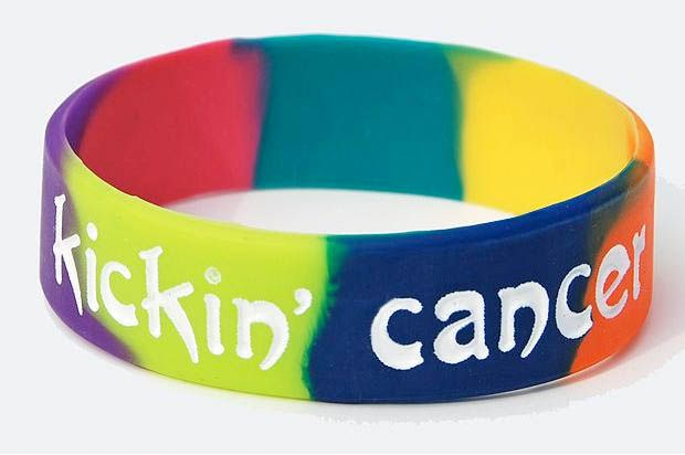 Kickin' Cancer Multi-Color WristbandMulticolored Wristband, Cancer Multicolored, Multi Colors Wristband, Cancer Awareness, Kickin, Products, Cancer Multi Colors, Contemporary Wristband