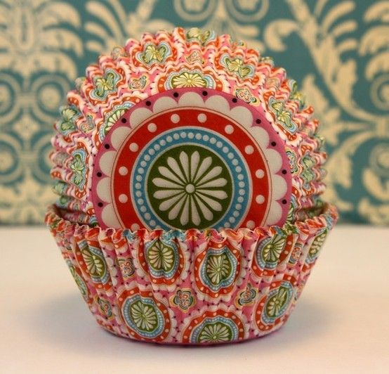 India paisley cupcake wrapper
