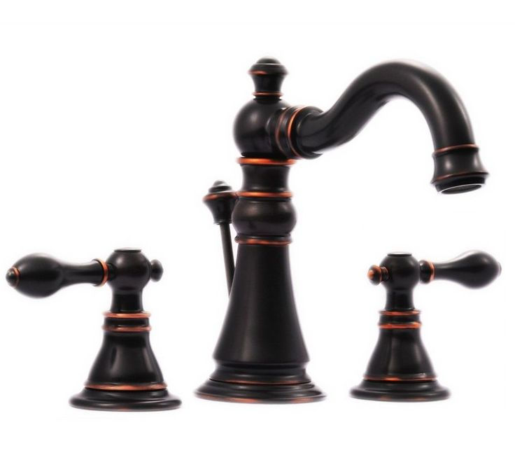 signature collection two handle widespread bathroom faucet oil rubbed bronze - Bronze Bathroom Faucet