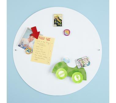 Kids' Bulletin Boards: Kids White Metal Circle Magnet Board