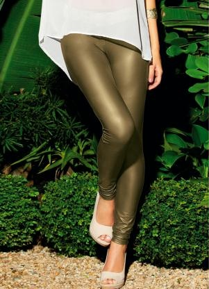 Calça Legging Dourada Calça Legging Moda Feminina