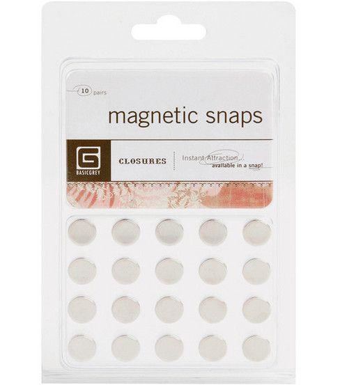 Basic Grey Small Magnetic Snaps at Joann.com
