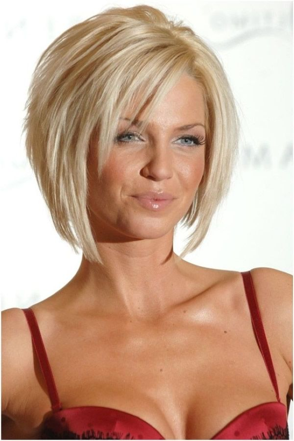 Lagerte Bob Frisur für blondes Haar | Frisuren ...