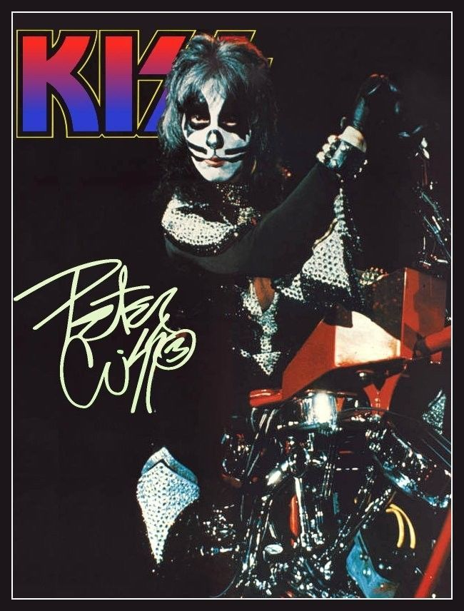 Kiss Peter Criss Motorcycle Stand Up Display | eBay