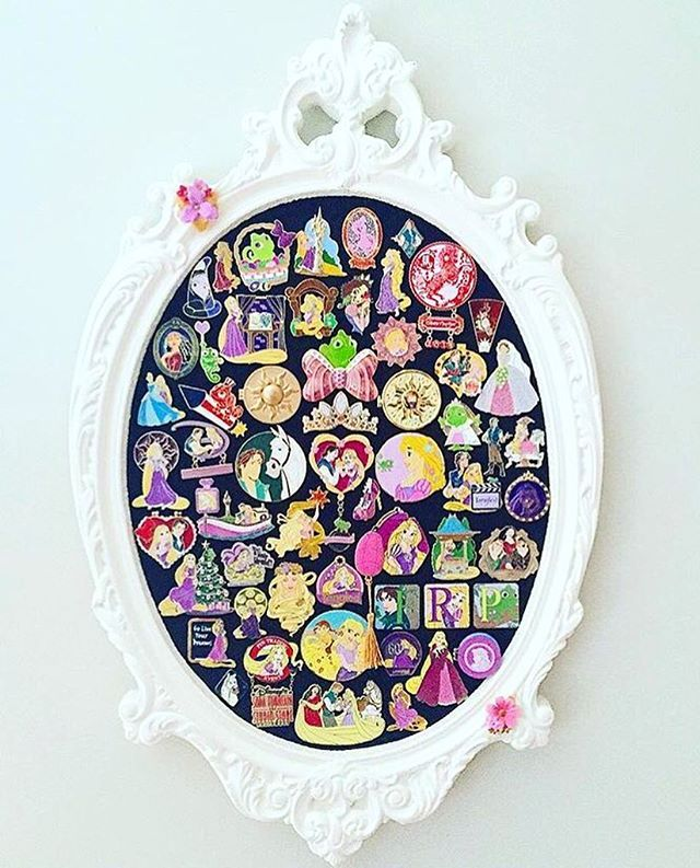 What a gorgeous way to display your Disney pins! Disney decor I Disney home I Disney decorating I design I home