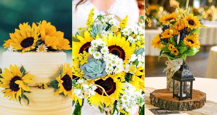 Napraforgó az esküvőn: semmihez sem hasonlítható bája van