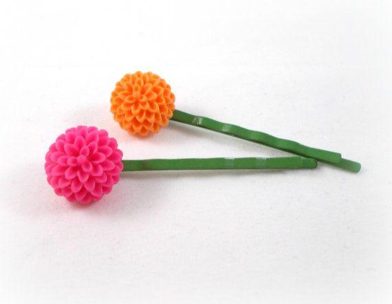 Tween Hair Accessories Tween Fashion Gift Ideas for Tween Girls Pink and  Orange Flower Bobby Pin. 25  unique DIY hair accessories for tweens ideas on Pinterest