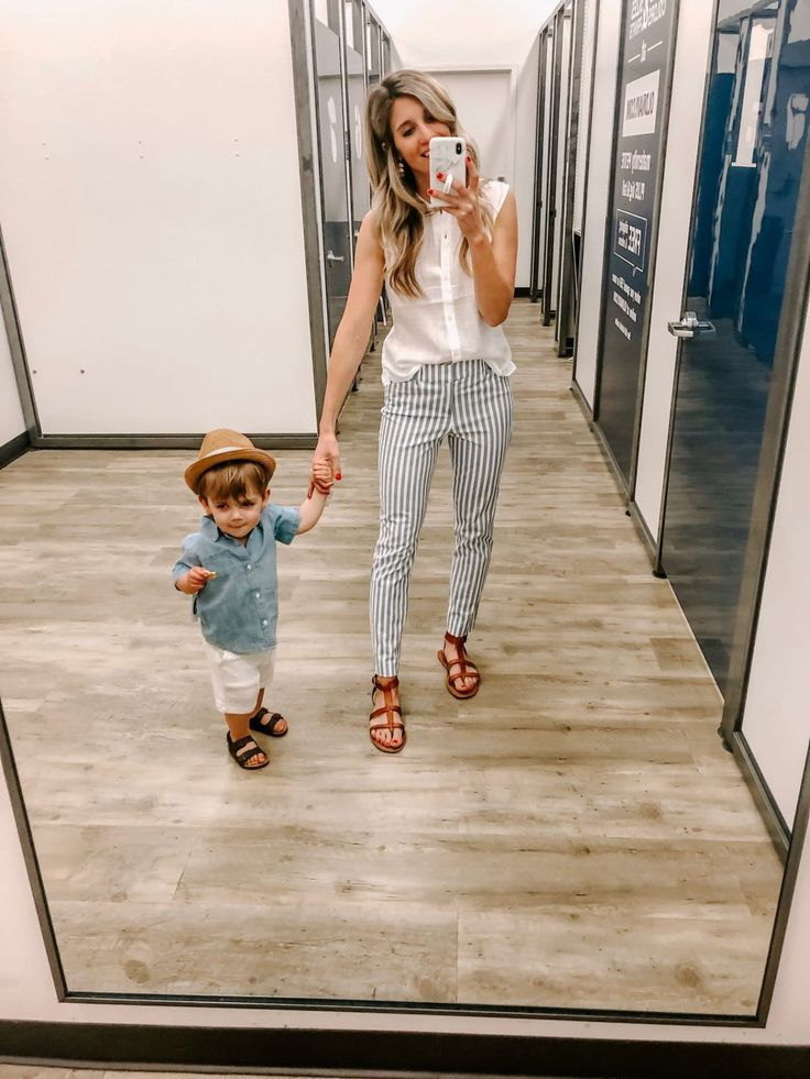 mommy  me  outfits with hats old navy chambray top