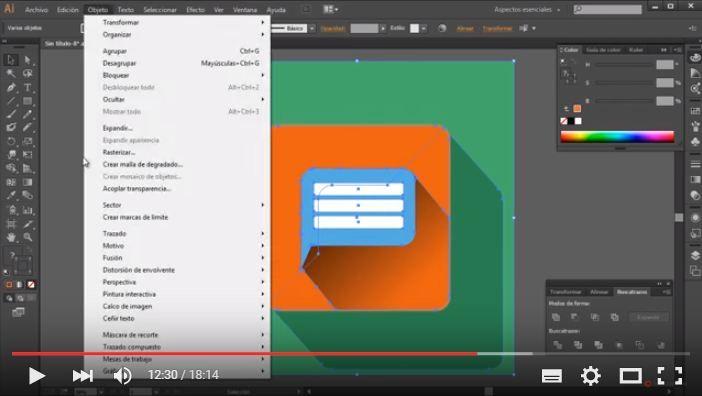 flat icon design tutorial