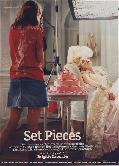 Sofia Coppola by Brigitte Lacombe on the set of Marie Antoinette. www.theadventuresofapinkchampagnebubble.com