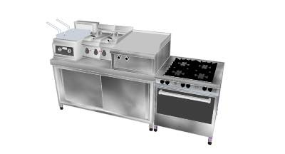small restaurant kitchen equipment set