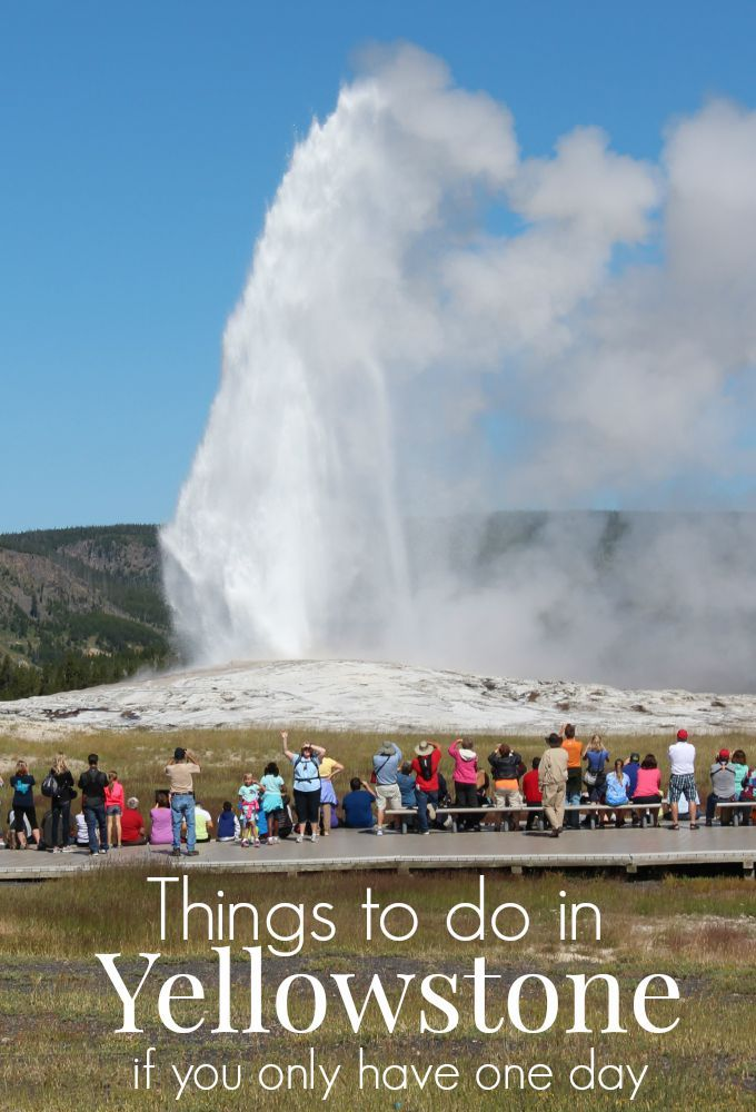 With so many things to do in Yellowstone, planning to visit for one day is not ideal but can be done in a pinch. This post offers a sample itinerary and some tips on where to begin.
