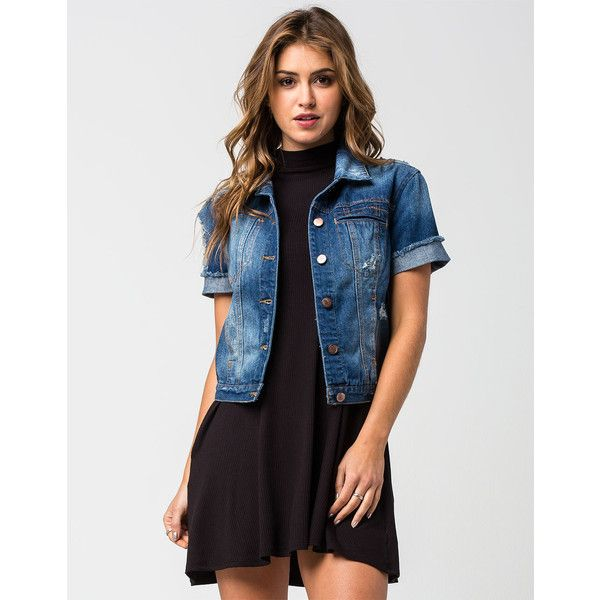 Más de 25 ideas increíbles sobre Short sleeve jean jacket en ...