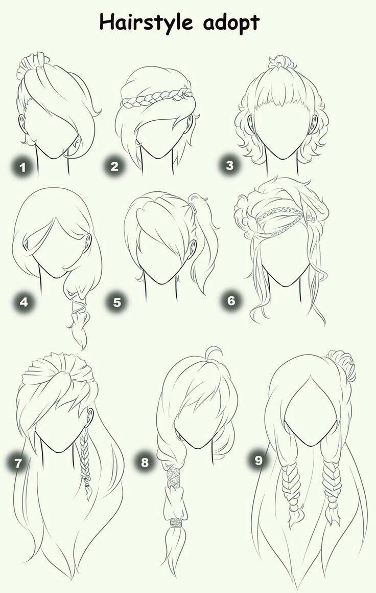 Anime Girl Frisur Zeichnen Frisuren Zeichnen Wie Zeichnet Man