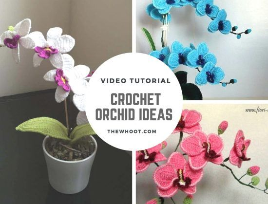 Crochet Orchid Flower Video Tutorial