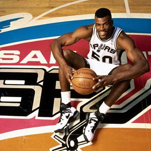 David Robinson won two NBA titles, and his #50 was retired by the Spurs shortly after he retired.