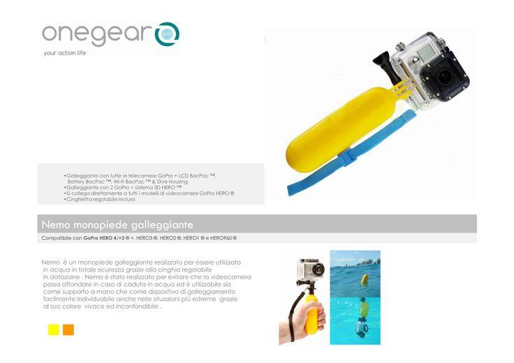 Gopro monopiede galleggiante , ideale per utilizzo in acqua , con laccio di sicurezza