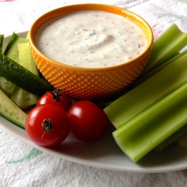 Healthy Homemade Ranch Dip - Eating Made Easy