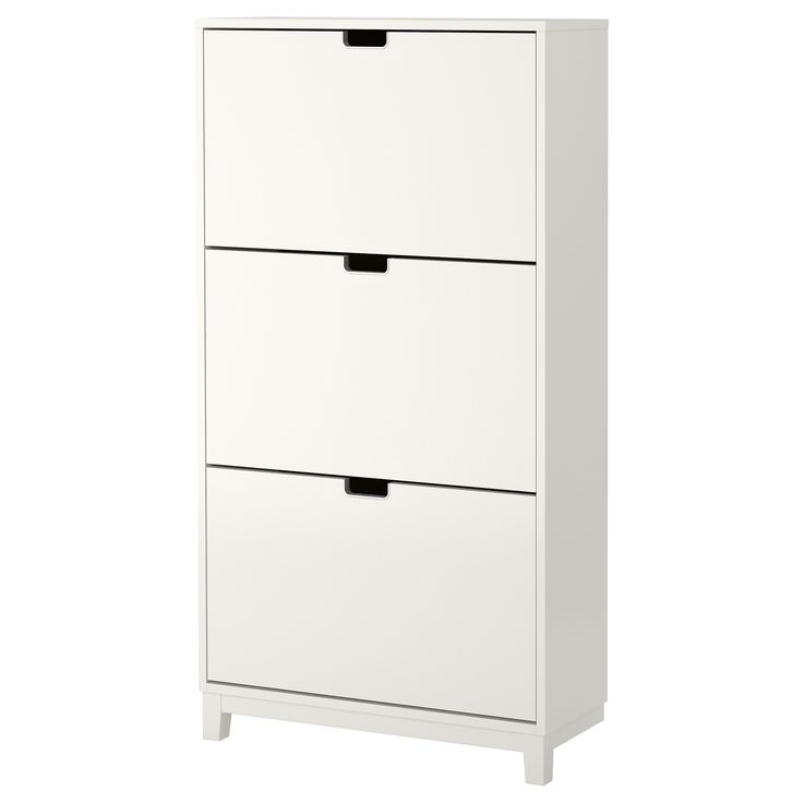 Ställ Shoe Cabinet With 3 Compartments White For The Home
