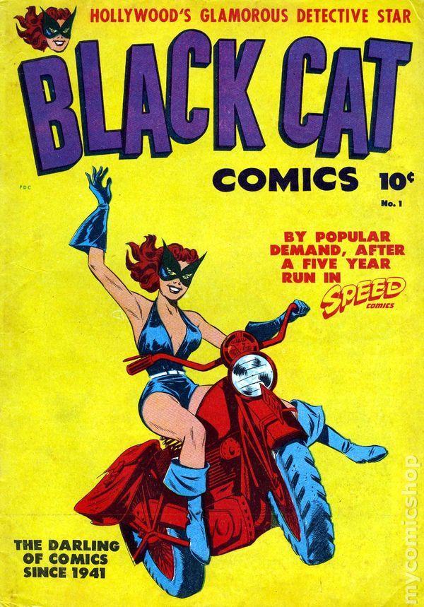 Black Cat Harvey Comics | Black Cat Comics (1946 Harvey) comic books