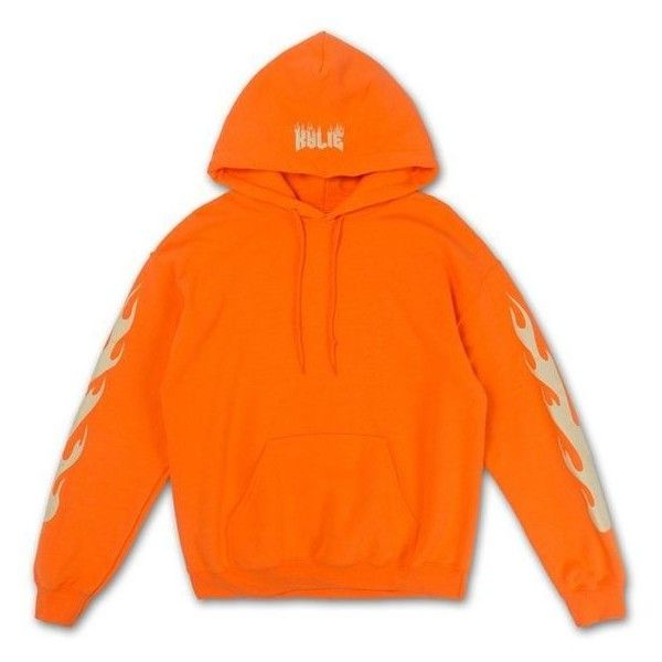 Fire Hoodie ❤ liked on Polyvore featuring tops, hoodies, sweatshirt hoodies, orange hoodie, hoodie top, hooded sweatshirt and orange hoodies