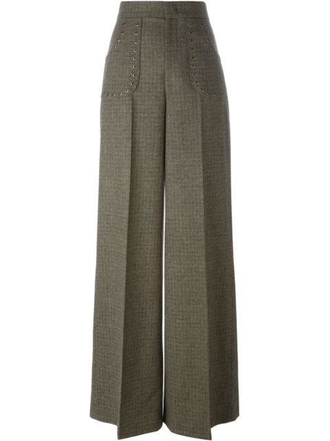 Shop Red Valentino studded tweed trousers.