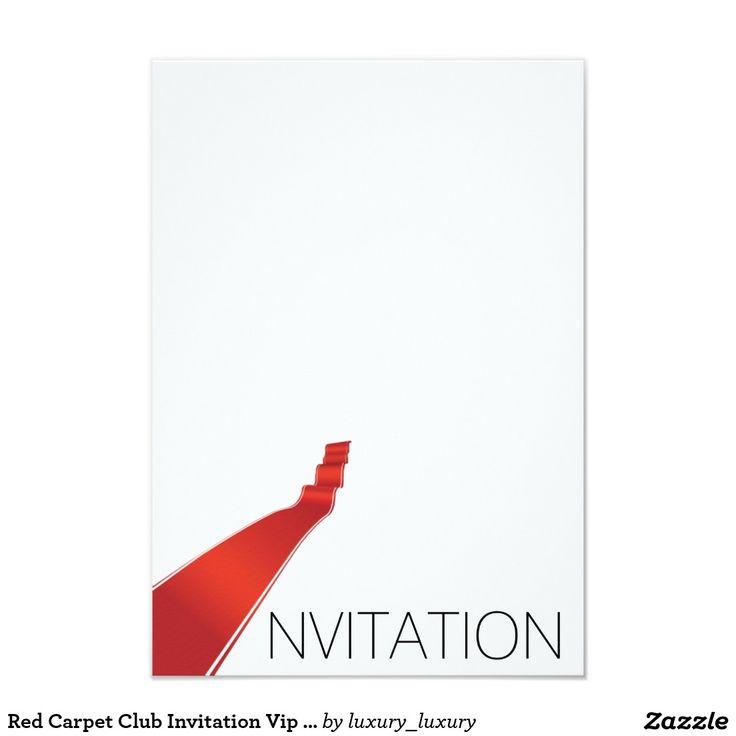 Red Carpet Club Invitation Vip Invitation