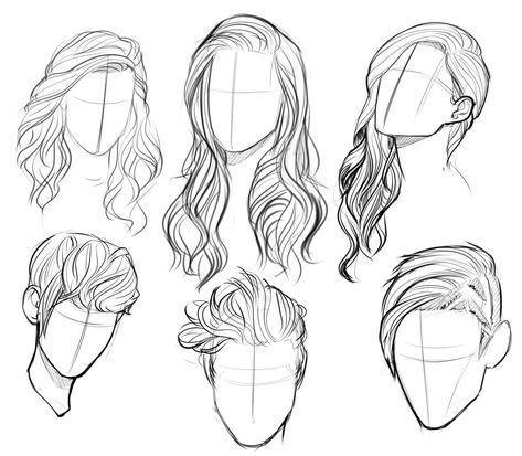 Hairstyles sketches – Zeichnen – #HAIRSTYLES #s…