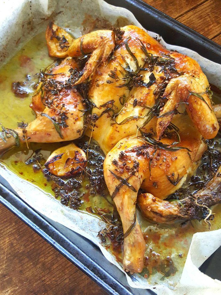 Spatchcock Chicken – Chicken squashed flat!