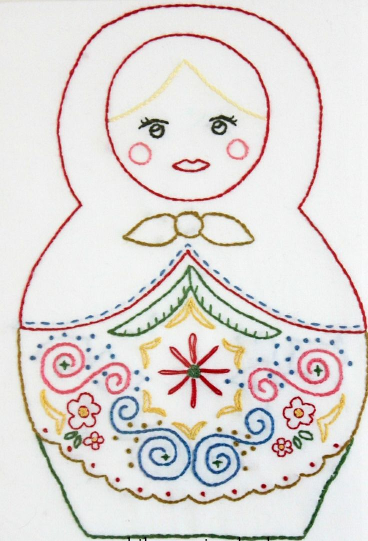 Embroidered doll.  Found this on the net!