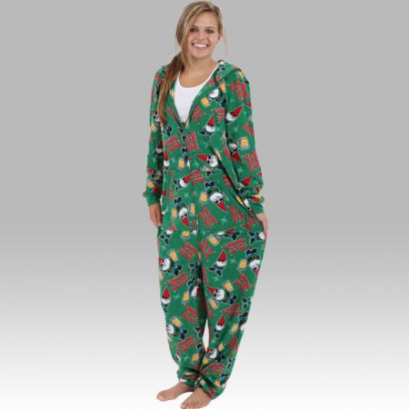 Christmas Gnome - Hooded Adult Christmas Pajamas - Ruffles with Love - RWL