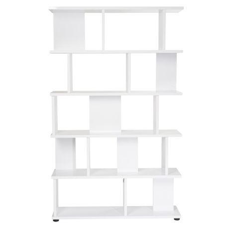 Sleek Bookshelf High  White