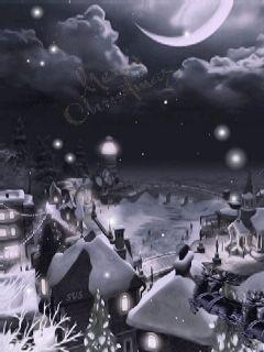 С Рождеством! - анимация на телефон №1204236