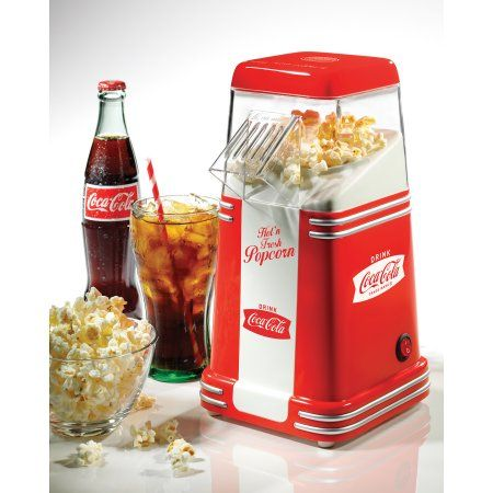 Nostalgia Electrics Coca-Cola Series Mini Hot Air Popcorn Popper, RHP310COKE