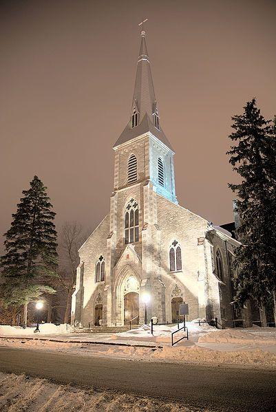 The Cathedral of St. Peter-In-Chains est in 1826 to serve a large community of Irish Catholics.  This is one of the oldest remaining Catholic churches in Ontario.  Gothic Revival style.