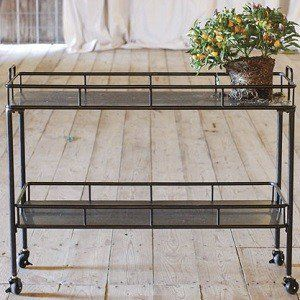 Metal Kitchen Cart on Wheels 1