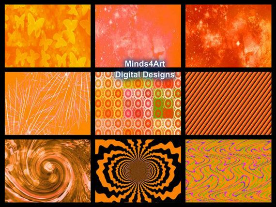 36 Orange Digital Scrapbook Paper Craft Paper Origami by Minds4Art, $2.99 Great for crafts of all kinds!