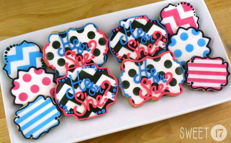 Gender Reveal Sugar Cookies Sweet17Cookies.Etsy.com