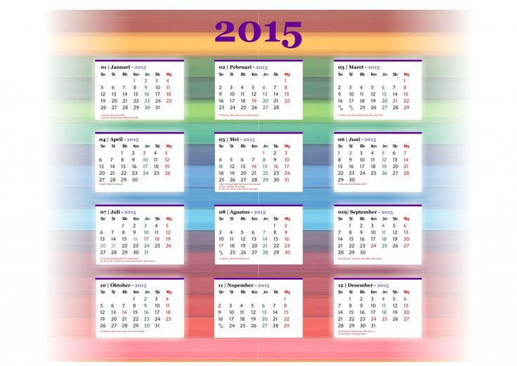 Kalender 2015 Indonesia - Design_31_Pinstripe