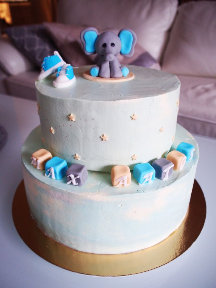 Baby's name cake 💙🍼