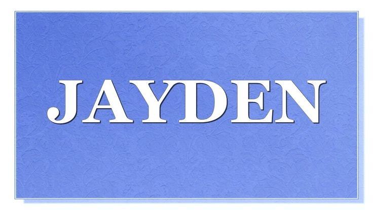 Meaning of the name Jayden What is the meaning of the name Jayden? What are lucky colors for Jayden? What are lucky days for Jayden? What are lucky professions for Jayden? How special  is Jayden? You will find answers to these questions in this movie. We collected fun facts about the name Jayden.